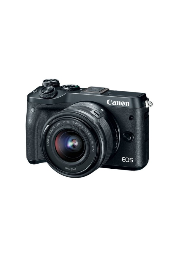 Canon EOS M6 Black with EF-M15-45mm